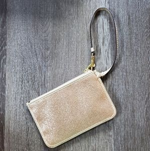 Coach Bags - Gold glitter Coach wristlet